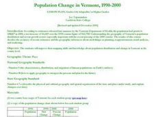 Population Change in Vermont, 1990-2000 Lesson Plan