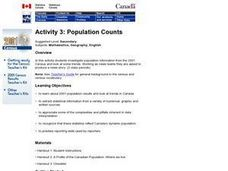 Population Counts Lesson Plan