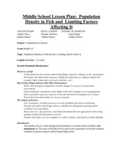 Population Density In Fish Lesson Plan