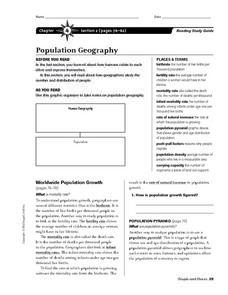 population geography 6th 8th grade worksheet lesson planet. Black Bedroom Furniture Sets. Home Design Ideas