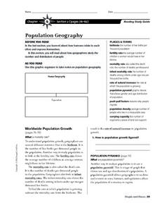 Population Geography Worksheet