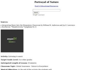 Portrayal of Nature Lesson Plan