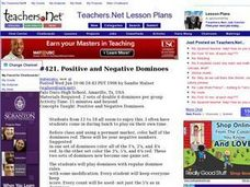 Positive and Negative Dominoes Lesson Plan
