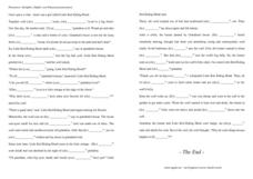 Possessive Pronouns-- Little Red Riding Hood Worksheet