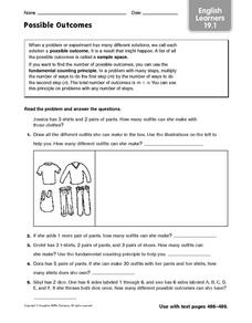 Possible Outcomes: English Learners Worksheet