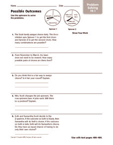 Possible Outcomes: Problem Solving Worksheet