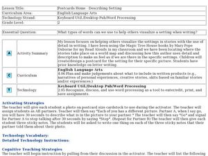 Postcards Home-Describing Setting Lesson Plan
