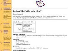 Posters -- What's the Main Idea? Lesson Plan
