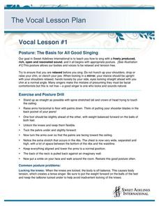 posture the basis for all good singing lesson plan - Online Shop Sing Like No One Is Listening Mark Twain