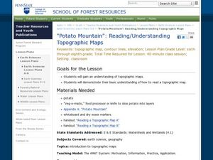"""Potato Mountain"": Reading/Understanding Topographic Maps Lesson Plan"