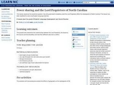 Power sharing and The Lord Proprietors of North Carolina Lesson Plan