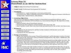 PowerPoint as an Aid for Instruction Lesson Plan