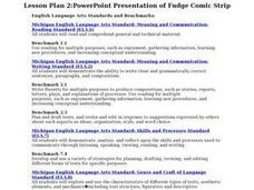 PowerPoint Presentation of Fudge Comic Strips Lesson Plan