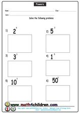 Powers Worksheet