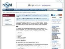 Practical Marketing Skills in Travel and Tourism 2 Lesson Plan