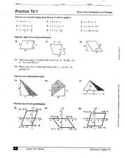practice 10 1 areas of parallelograms and triangles 9th 11th grade worksheet lesson planet. Black Bedroom Furniture Sets. Home Design Ideas