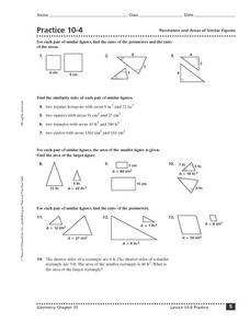 Area and Perimeter of Similar Figures Worksheet