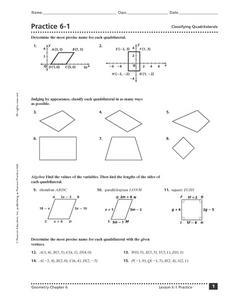 Worksheets Classify Quadrilaterals Worksheet classifying quadrilaterals pdf pictures to pin on pinterest 228x300