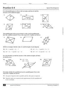 parallelogram properties worksheet - kutshet.com