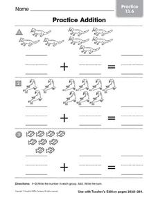 Practice Addition: Practice Worksheet