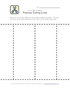 Practice Cutting Lines 2 Worksheet