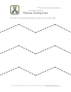 Practice Cutting Lines Worksheet