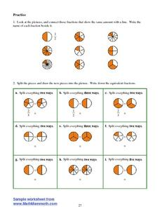 Practice Equivalent Fractions Worksheet