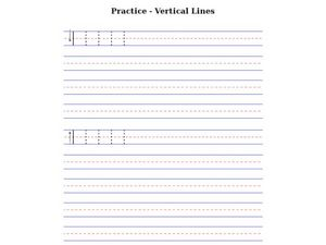Practice - Vertical Lines Worksheet