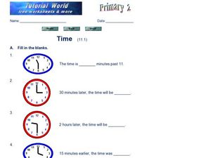 Practice With Telling Time Worksheet