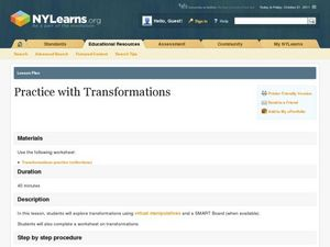 Practice with Transformations Lesson Plan