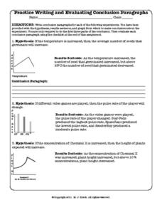 Practice Writing and Evaluating Conclusion Paragraphs Worksheet