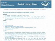Practicial Healthcare: Vocabulary, Verbs and Frequency Adverbs Lesson Plan
