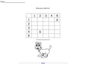Practicing Addition Worksheet