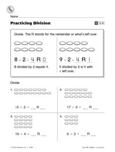 Practicing Division Worksheet