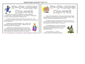 Pre-Columbian Explorers Worksheet