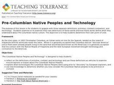 Pre-Columbian Native Peoples and Technology Lesson Plan