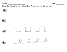 Pre-Printing Trace the Dotted Lines Worksheet
