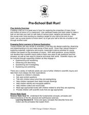 Pre-School Ball Run Lesson Plan