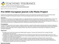 Pre-WWII European Jewish Life Photo Project Lesson Plan