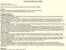 Predicting Nations at Risk Lesson Plan