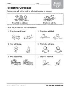 Predicting Outcomes:  ESL Vocabulary Worksheet
