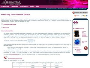 Predicting Your Financial Future Lesson Plan