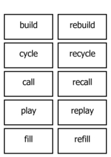 Prefix Practice Cards Worksheet