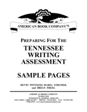 Preparation for Writing Assessment Lesson Plan