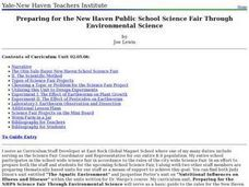 Preparing for the New Haven Public School Science Fair Through Environmental Science Lesson Plan
