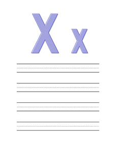 Preparing Your Child For Preschool: Letter Xx Worksheet