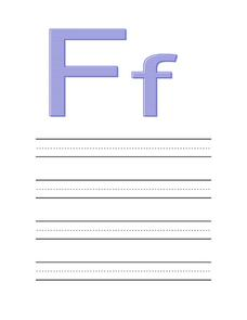 Preparing Your Child for Preschool: The Letter Ff Worksheet