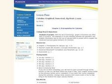 Prerequisites for Calculus Lesson Plan