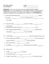 Present Perfect Practice Worksheet