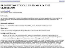 Presenting Ethical Dilemmas in the Classroom Lesson Plan